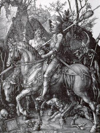 Il Cavaliere, il Diavolo e la morte - Durer - 1513